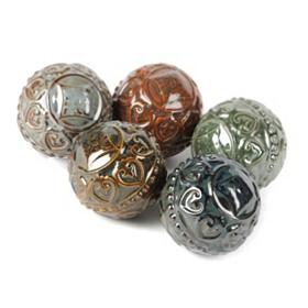 Glazed Ceramic Orbs