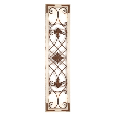 Wood Metal Panel Wall Decor Classy Distressed Cream Wood & Metal Wall Panel  Kirklands Design Ideas