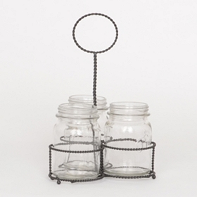 Mason Jar Flatware Caddy