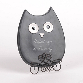 Chalkboard Owl Memo Board with Stand