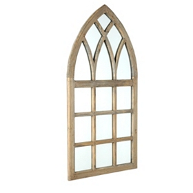 Arched Cathedral Window Mirror, 24x47