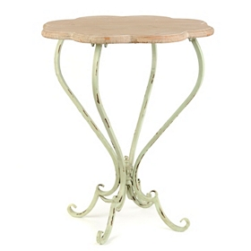 Bella Scalloped Weathered Accent Table