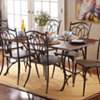 Antique Brown Wood & Metal Dining Table