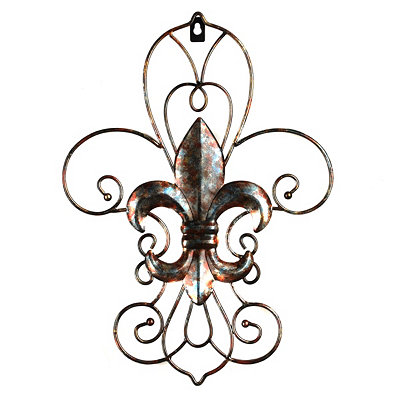 Layered Fleur-de-Lis Wall Plaque