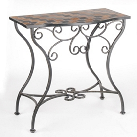 Sienna Tiled Outdoor Console Table