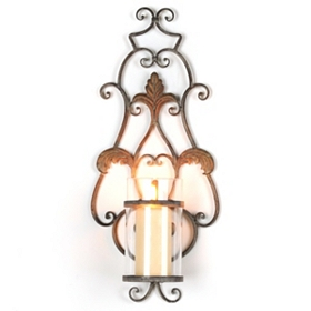 Distressed Scroll Sconce