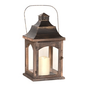 Pagoda Lantern with LED Candle