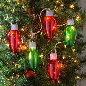 Green & Red Bulb Lights, 48 in.