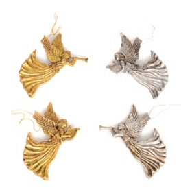 Vintage Angel Ornament, Set of 4
