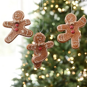 Dancing Gingerbread Man Ornament, Set of 3