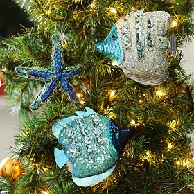 Under the Sea Ornament, Set of 3