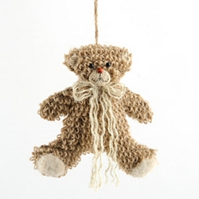 Jute Bear Ornament, Set of 3