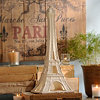 Ivory Ceramic Eiffel Tower Statue