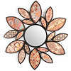 Vintage Scrapbook Leaf Mirror, 35x37