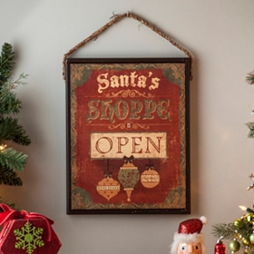 Santa's Shoppe Canvas Art