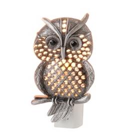 Pewter Owl Night Light