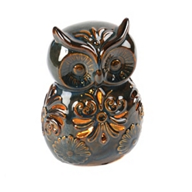 Ceramic Tabletop Owl Night Light