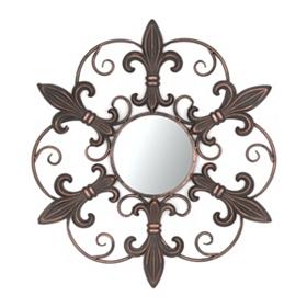 Metal Fleur-de-lis Mirror