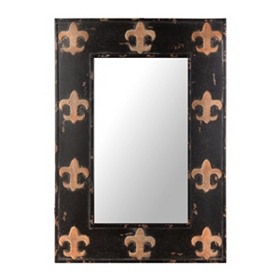 Black and Gold Fleur-de-lis Mirror