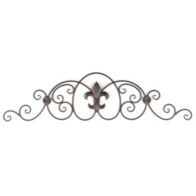 Metal Fleur-de-Lis Over the Door Plaque