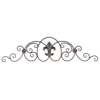 Metal Fleur-de-Lis Over the Door Plaque