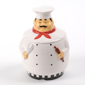 Talking Chef Cookie Jar
