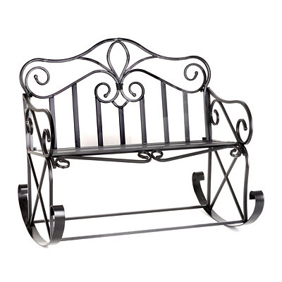 Black Finial Bench Rocker