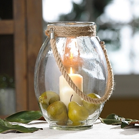 Clear Glass Lantern, 12 in.