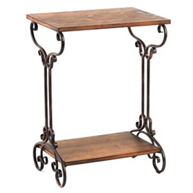 Rustic Two-Tier Table