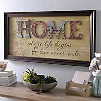 Home Scrapbook Framed Art