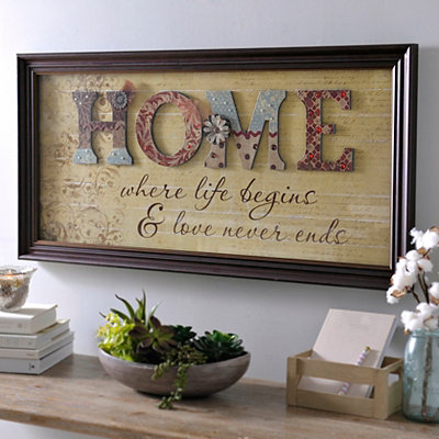 Home Scrapbook Framed Art