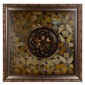 Geometric Floral Mosaic Shadowbox