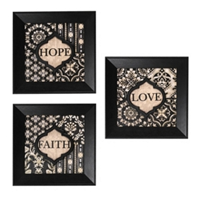 Black & Ivory Sentiment Wall Plaques
