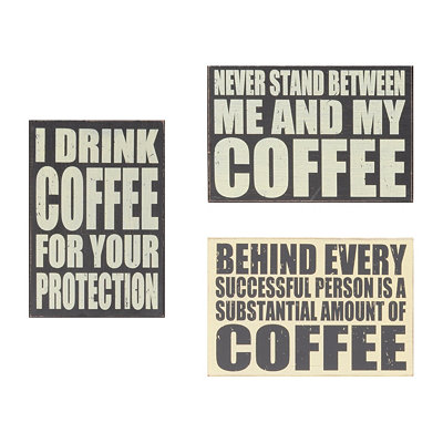 Coffee Lover Wall Plaques
