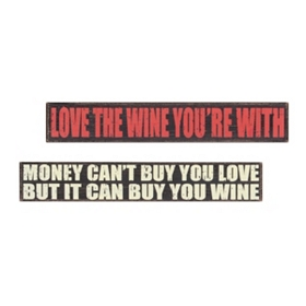 Red & White Wine Lovers Wall Plaques