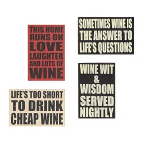 Wine Lovers Wall Plaque
