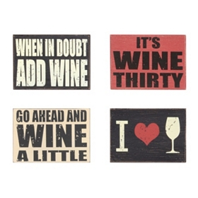 I Love Wine Wall Plaques