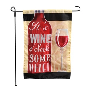 Wine Flies Outdoor Flags