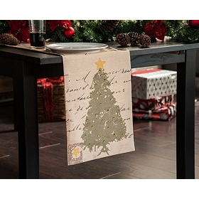 Christmas Tree & Postcards Table Runner