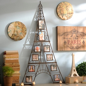 Eiffel Tower 10-Opening Collage Frame