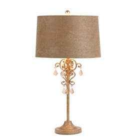 Lucca Taupe Chandelier Table Lamp