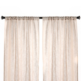 Tan Textured Woven Curtain Panel, Set of 2