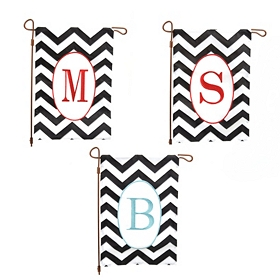 Chevron Monogram Flag Set