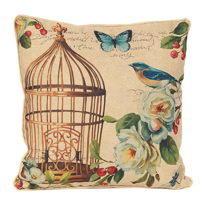 Birds & Blooms II Accent Pillow