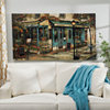Corner Cafe Canvas Art Print