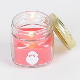 Santa Claus Mason Jar Candle