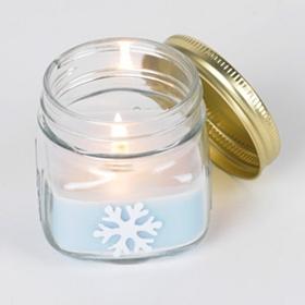 Snowflake Mason Jar Candle