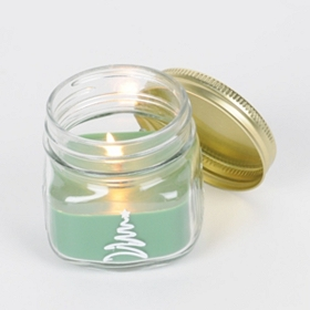 Christmas Tree Mason Jar Candle