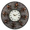Fleur-de-Lis Metal Wall Clock