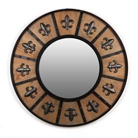 Fleur-de-Lis Shield Mirror